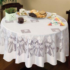 toalha de mesa redonda renda